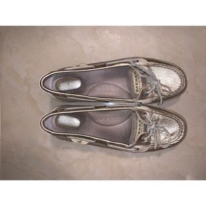 Sperry topsider gold metallic size 8.5 shoes